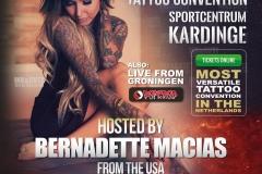 INK&CUTZ Spandoek 01 Bernadette Macias
